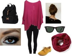 """""""Lazy day for school!"""" by thesarahphan on Polyvore"""