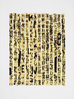 Fernando Aguiar (Lisboa, Portugal, 1956) Ensaio para uma nova expressão da escrita I, 1978