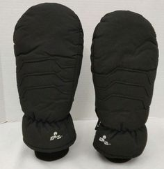 EMS Eastern Mountain Sports Mittens Gor Tex Black Mens Large Winter Snow  #EMS