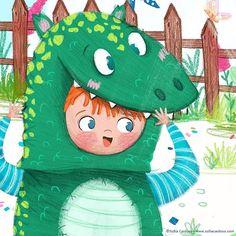 dinosaur - children's illustration by Sofia Cardoso #illustration #kidlitart