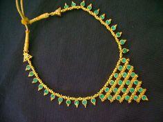 Turq net necklace