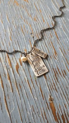 www.MyBellaMarketplace.com  #MyBellaMarketplace  I Love Jesus, But I Drink A Little Custom Hand Stamped Pick Your Poison And Make It Yours Wine Beer Martini Coffee Necklace by MyBella