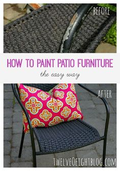 how to paint patio furniture, diy home decor, summer decor, patio decor Painting Patio Furniture, Backyard Furniture, Outdoor Furniture, Outdoor Decor, Furniture Layout, Furniture Decor, Outdoor Spaces, Furniture Sets, Diy Patio