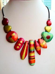 polymer clay jewelry pinkorangeleftovers.jpg
