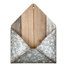Galvanized Iron & Wood Alexandria Wall Letter Holder By Studio Décor