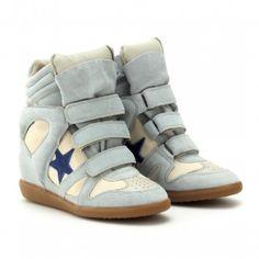 bd04d38f77c Isabel Marant Bayley Suede Wedge Sneakers - Lyst Blue Sneakers