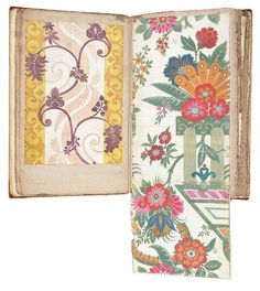 James Leman's textile design album Designs for woven silk for the Leman album, James Leman. Left hand page dated 'Jan: 15 - 1711/12', E.1861.18-1991 (VS.12). Right hand page dated 'Octr: 4th 1707', E.1861.19-1991 (VS.13)