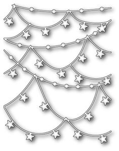 Star Garlands by Memory Box - $24.99  	 Star Garlands die by Memory Box! Cute for a birthday card or maybe a patriotic one and more...Size       4.2 x 5.4 inches