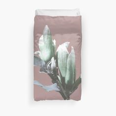 White Duvet Covers, Bed Covers, Pink Sky, White Flowers, My Arts, Art Prints, Printed, Awesome, Artist