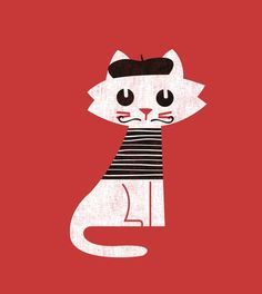 Poster   MARK THE CAT GOES TO PAR von Budi Kwan   more posters at http://moreposter.de