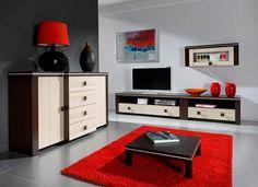 Obývací stěna - sestava Edita 9 / living room furniture Flat Screen, Entryway, Furniture, Home Decor, Blood Plasma, Entrance, Decoration Home, Room Decor, Door Entry