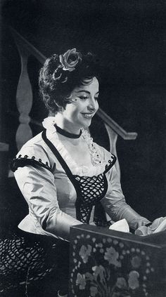16th May 1960 Teresa Berganza [Spain 16th March 1935] as Rosina in Il Barbiere di Siviglia at Covent Garden. | Flickr - Photo Sharing!