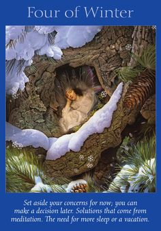 Oracle Card Four of Winter | Doreen Virtue | official Angel Therapy Web site