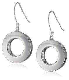 Sterling Silver Open Circle Dangle Earrings ** Want to know more, click on the image. (This is an Amazon Affiliate link and I receive a commission for the sales)