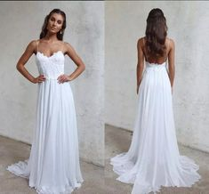Cheap bridal gown bridal shop and celebrity wedding dresses on DHgate.com. spaghetti straps chiffon a line summer beach wedding dresses lace top backless court train boho garden bridal gowns 2018 grace lace love sold by alegant_lady are quality guaranteed.
