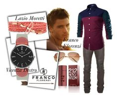"""1#Franco Florenzi&my man"" by fatimka-becirovic ❤ liked on Polyvore featuring Balmain, Creative Co-op, VIcenza, Carolina Herrera, men's fashion, menswear and francoflorenzi"