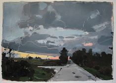 Landscape Paintings...Harry Stooshinoff: Home Way....Day's End (Sold)
