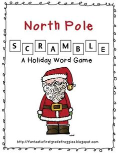 North Pole Scramble- word game