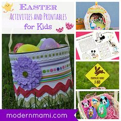 Free Easter Printables and Activities for Kids on modernmami.com #Easter #printables #kids