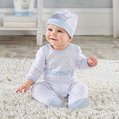 Let your little prince stand out in style and comfortable warmth with Baby Aspen& Little Prince Pajama Gift Set. Featuring a footed pajama and a coordinating cap, it& a great little prince baby shower gift. Toddler Outfits, Baby Boy Outfits, Kids Outfits, Newborn Baby Gifts, Baby Boy Gifts, Baby Boys, Personalized Baby Blankets, Personalized Baby Gifts, Baby Aspen