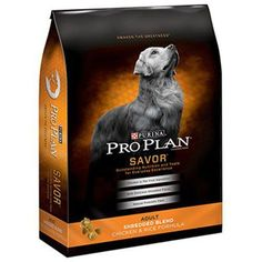 Get your dog excited about mealtime when you serve him Purina Pro Plan SAVOR Shredded Blend Chicken & Rice Formula adult dry dog food. Real chicken as… Best Dry Dog Food, Food Dog, Dog Food Recipes, Dog Training Methods, Training Your Puppy, Training Dogs, Pitbull, Pro Plan Dog Food, High Protein Dog Food