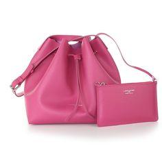LANCASTER Paris - Pur Saffiano Beuteltasche, pink
