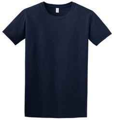 Gildan SoftStyle Ringspun Cotton Short-Sleeve Crewneck T-Shirt. 64000, Men's, Size: XL, Blue