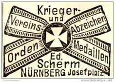 Original-Werbung/ Anzeige 1903 - ORDEN / MEDAILLEN - SCHERM - NÜRNBERG…