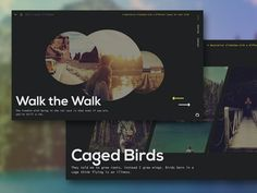 A simple decorative slideshow component with individual slide layouts and…