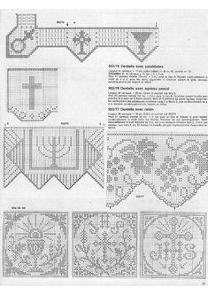 "Photo from album ""Burda special 1988 FRA - Filet au crochet on Yandex. Filet Crochet Charts, Crochet Borders, Crochet Cross, Thread Crochet, Crochet Motif, Crochet Doilies, Crochet Lace, Crochet Stitches, Chrochet"