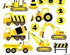 Camiones de construcción Digital Clipart