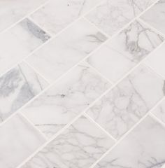 MSI Calacatta Cressa 3 in. x 6 in. Honed Marble Floor and Wall Tile sq. / - The Home Depot Marble Tile Backsplash, Marble Bathroom Floor, Marble Look Tile, Marble Subway Tiles, White Marble Bathrooms, Marble Showers, Honed Marble, Marble Mosaic, Marble Floor
