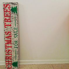 Christmas Trees for sale barnwood sign