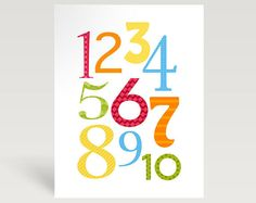 number art for the playroom