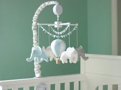 Baby boy crib mobile