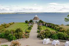 Real French's Point Wedding: Allison and Evan - French's Point - Coastal Maine Weddings Maine Wedding Venues, Wedding Spot, Waterfront Wedding, Outdoor Wedding Venues, Perfect Wedding, Summer Wedding, Nautical Wedding, Nautical Style, Amazing Sunsets