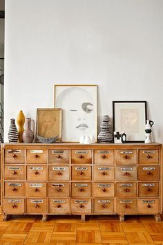 Home office organization | vintage apothecary cabinet | Girlfriend is Better