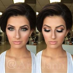 The Best Wedding Makeup Ideas For Brides, Bridesmaids, And The Entire Bridal Party. We Cover Make Up Ideas For Blondes, For Brunettes, For Long Hair, Medium Length Hair And Short Hair. We Cover Natural And Vintage Looks And How To Give A Bride Or Bridesmaid A Dramatic Or Romantic Look. Some Makeup Ideas For Brides With Hazel Eyes, Blue Eyes, Green Eyes, Or For Brides With Brown Eyes. These Stunning Makeup Ideas For Wedding Makeup Are Great For Summer, Fall And Winter. #lipcolorsforbrunettes