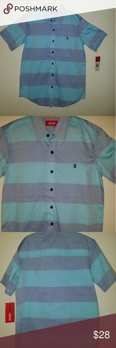 New unworn boys IZOD shirt size 10/12 New and unworn. Boys IZOD button down short sleeved shirt size 10/12 (medium) Izod Shirts & Tops Button Down Shirts
