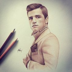 "Cas op Instagram: ""A sketch of Peeta Mellark!  Who's your favorite character from The Hunger Games?"""