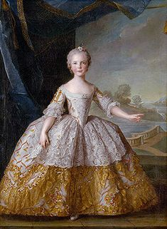 Title: Isabelle of Parma as a Child, 1749  Artist: Jean-Marc Nattier  Medium: Canvas Art Print - Giclee