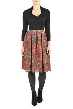I <3 this Digital floral print crepe dress from eShakti