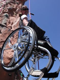 Climbing to the top. #disAbility #wheelchair #rockclimbing  >>> See it. Believe it. Do it. Watch thousands of spinal cord injury videos at SPINALpedia.com