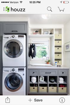 Cozy laundry room