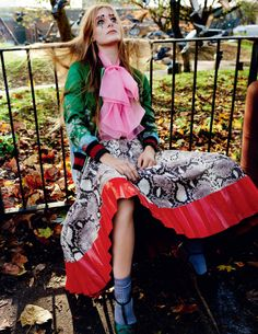 cool Edie & Olympia Campbell don eclectic style for Vogue UK March 2016 by Mario Testino  [fashion]