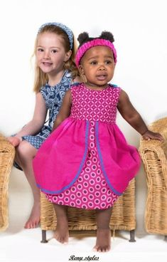 JenniDezigns is a boutique range of quirky yet classical clothing for young girls, giving them the freedom to just be children. Baby African Clothes, African Dresses For Kids, African Babies, African Children, African Print Dresses, African Wear, African Attire, African Fashion Dresses, Ankara Fashion