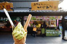Kumamoto, 熊本県 , 熊本城, くまもとじょう, 녹차 소프트아이스크림 300¥