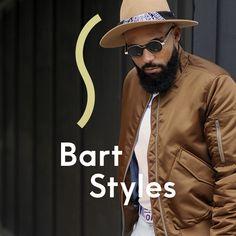 Von Moustache bis Vollbart - wir wissen wie du deinen Traumbart bekommst und ihr am besten pflegst. Buche dir jetzt auf Treatwell einen Termin im Salon in deiner Nähe. Bomber Jacket, Tops, Jackets, Style, Fashion, Living Room, Beard Trimming, Full Beard, Shaving
