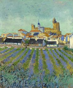 Art of the Day: Van Gogh, View of Saintes-Maries-de-la-Mer, June 1888. Oil on canvas, 64 x 53 cm. Kröller-Müller Museum, Otterlo.