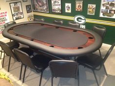 Poker table plans green bay poker room projects to try покер Poker Table Plans, Folding Poker Table, Gaming Table Diy, Diy Table, Casino Table, Casino Decorations, Casino Theme Parties, Casino Party, Table Games